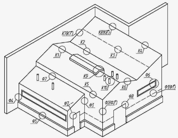 Схема расположения узлов